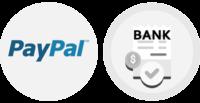 Bezahlen mit PayPal oder Banküberweisung