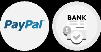 Paypal & Banküberweisung