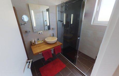 Badezimmer und dusche für waterplay